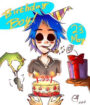 Birthday Boy:Gorillaz by RaHmADiTa2219