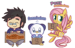 Commissions + SciBros by ecokitty