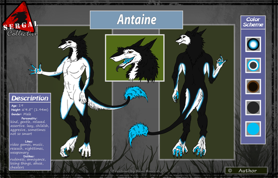 Antaine the Sergal (Fursona) by LR-Studios