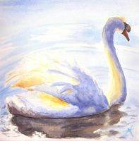 Swan - water colour by ThatJemmaBayleyGirl