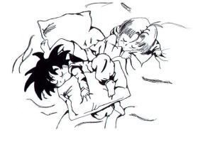 Trunks and Goten Sleep by eRychan