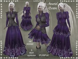 Anariel Gown Only PURPLE by Elvina-Ewing