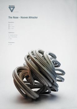 Strange Attractors - The Nose - Hoover Attractor by ChaoticAtmospheres