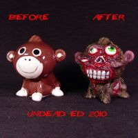 Zombie Monkey compare by Undead-Art