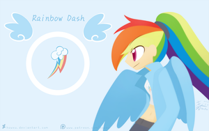 Weekly art#20 RainbowDash by HowXu