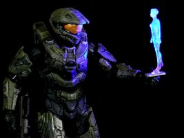Halo 4 Master Chief and Cortana 2 by AnthonysCustoms