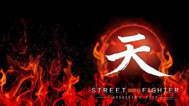 Street Fighter Assassin's Fist Logo (Flames/Black) by F-1