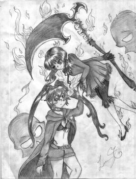 The dream of Black Rock Shooter 7u7 by Lucinta