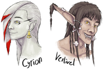 Cyrion and Verlivel headshots by TheFailedDream
