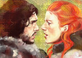 Jon Snow and Ygritte by MoishPain