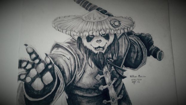 Mists of pandaria pencil drawing by dubz002