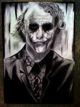 Heath Ledger as The Joker by TILLY001