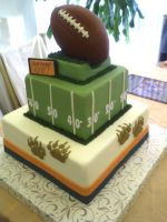 Football Cake by CoutureCupcakes