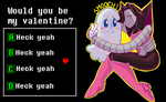 Valentine Card (Blooky and MTT) by Kaweii