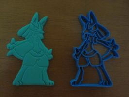 Lucario Cookie Cutter 01 by B2Squared