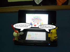 Plusle and Pikachu use 3DS 4 by efilvega