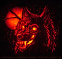 Werewolf Pumpkin Carving by Nashoba-Hostina