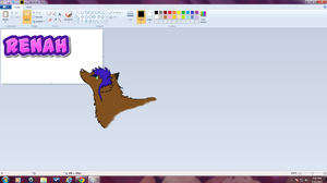 Renah .mspaint background. by groverismypuppy