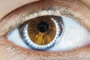 Brown Eye (LOL) Macro with ring light and EOS-M by Caramanos2000