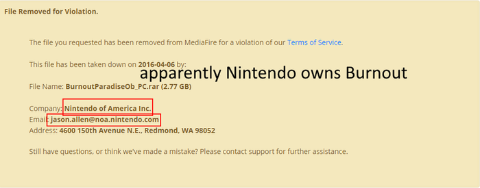 Wow, I didn't know Nintendo owns Burnout by SonicBoomFan14