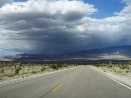 Desert Road and Storm by jvmediadesign
