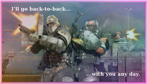 Army of Two Valentine by Klobb17