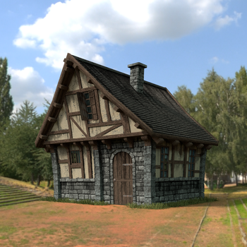 Modular medieval building kit - first test by DeepBlueDesign