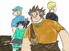 Wreck-it Ralph's Friends by AniLover16