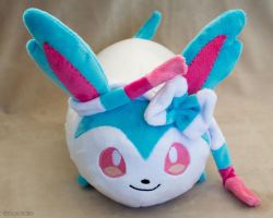 Commission Shiny Sylveon Roll by NovaNeedlestein