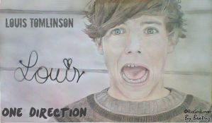 Louis Tomlinson - Drawing by BeatrizLoveMyJesus