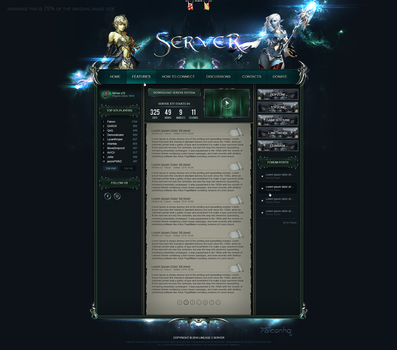 Lineage 2 Website [v26] by FalconHQ