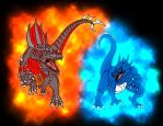 Beast's of Fire and Ice by Almaster09