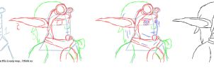 How to draw JxD characters: Jak (Part 1) by JakieInRed