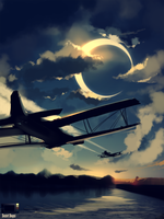 Speedpaint - Fly me to the Moon by danielbogni