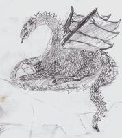 Dragon with Eggs by Froncake