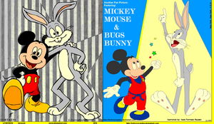 Mickey n bugs pals by FortressRayden