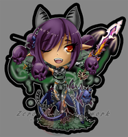 Perfect World: Werefox Ulti Chibi by ZeroJigoku