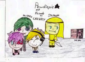 Pewdiepie 'N Friends as Chibis!? by RicoFan13