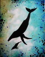 Whales-8x10 by LeahGarcia