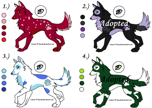 Wolf Adoption 2 -OPEN- 2 left by Kittypaws89