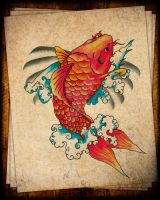 Red Koi by W-S-T