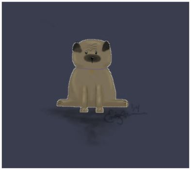 Puggy Wuggie by EmaleeAnderART