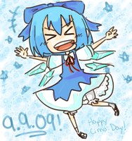9.9.09 Cirno Day by Kyuubiness