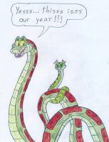 Kaa and Viper's Year by Jose-Ramiro