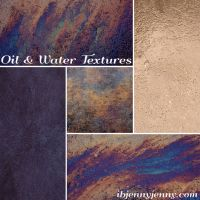Oil and Water Textures by ibjennyjenny