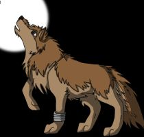 Toboe Howling In The Moonlight by DrawingMaster1