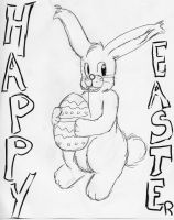 Happy Easter :D -LINEART- by the-suns-moon