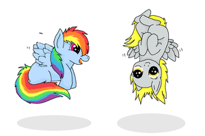 dashy and derpy's first flight by souleatersheik