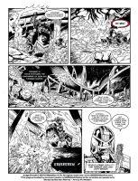 Judge Dredd 2000AD - Page 6 - Lettering Practice by AnEndlessReverie