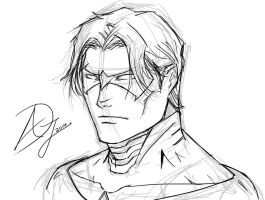 Nightwing Sketch by Demon-Sword-Art